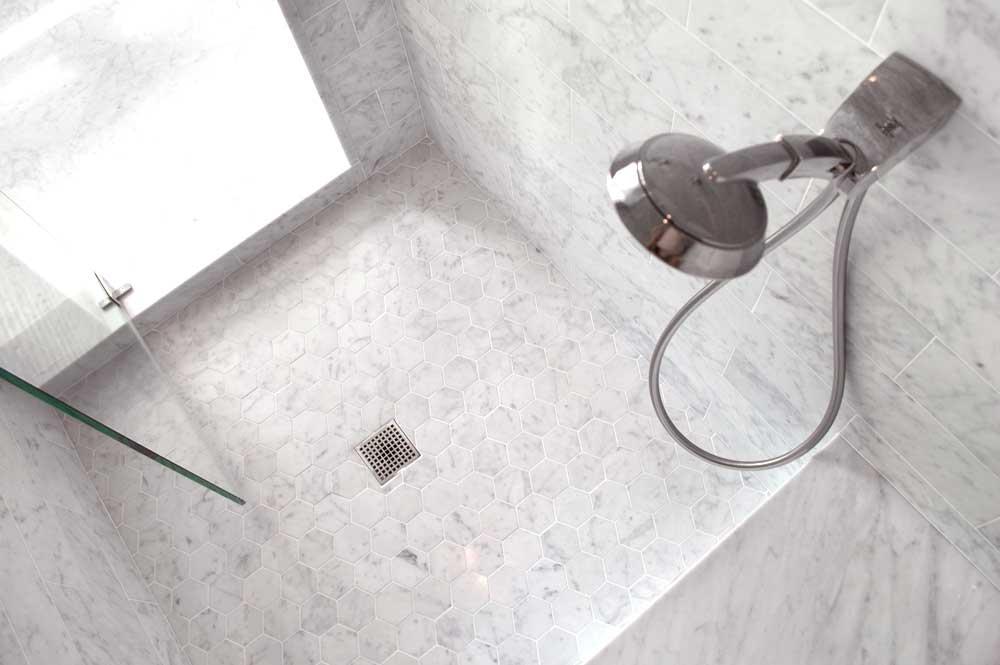 Bianco Venatino 16x16 3in Hexagon 3cm Slab Baton Corniche Moulding 003