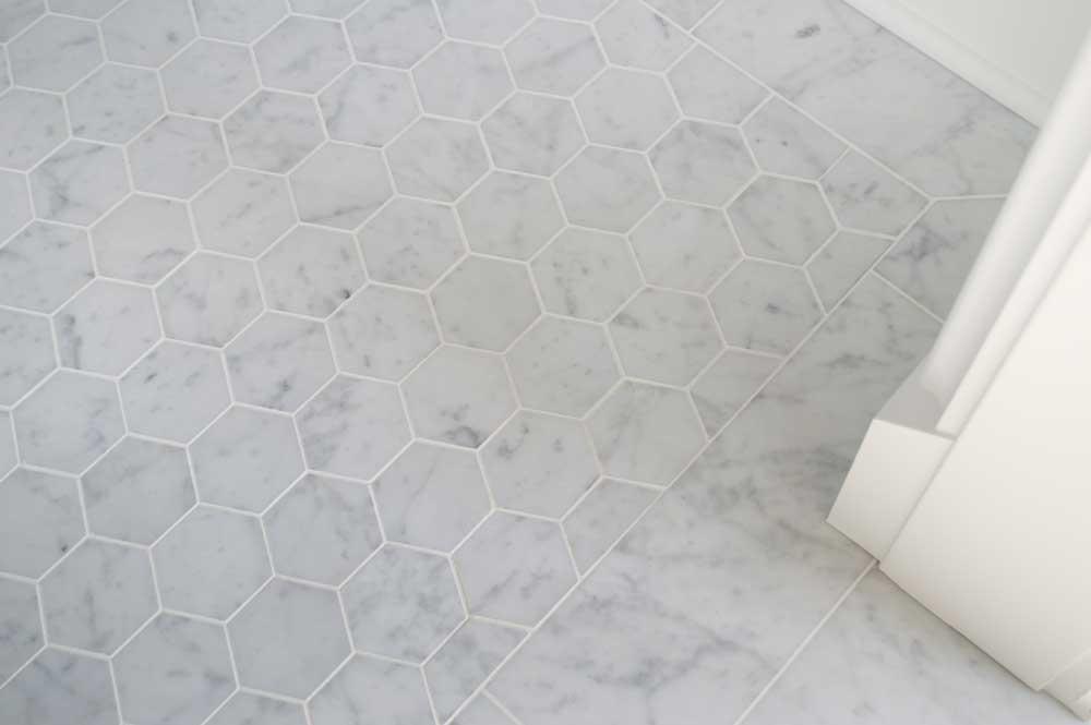 Bianco Venatino 3in Hexagon 2x16 001