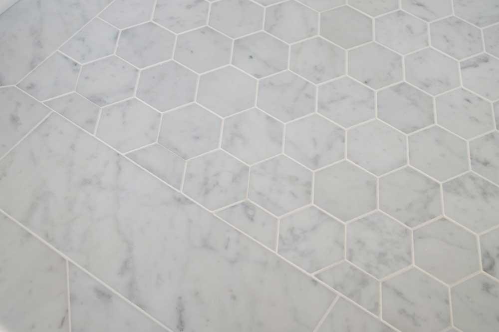Bianco Venatino 3in Hexagon 2x16 002